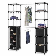 Rubbermaid Complete Closet Organizer Whitmor Deluxe Double Rod Organizer Walmart Com