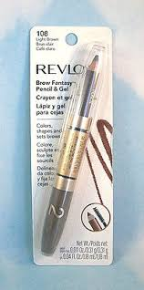 revlon brow fantasy light brown revlon brow fantasy by colorstay pencil gel 108 light brown