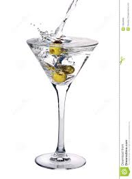 martini hawaiian martini cocktail with olives and splash royalty free stock image