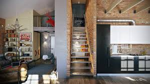 modern image of modern interior in loft style design ideas 909 568