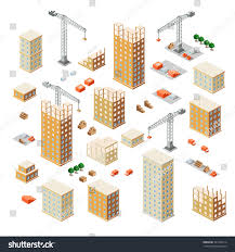 urban industrial isometric 3d architectural flat stock vector