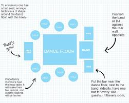 we u0027ve mapped out the perfect wedding reception layout wedding