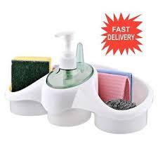WASHING UP LIQUID SOAP DISPENSER AND SPONGE HOLDER PLASTIC FOR - Bathroom liquid soap dispenser