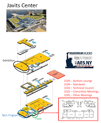 aes new york 2017 map of javits