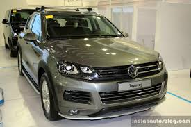 touareg volkswagen price vw touareg at the philippines motor show 2014 indian autos blog