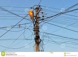 messy wires stock photo image of danger messy attention 32400062