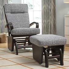 Jcpenney Glider Rocker by Furniture Black Wrought Iron Rocker Glider And Ottoman With Gray