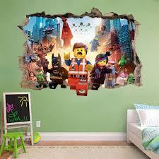 28 video game wall murals video game sticker play decal video game wall murals lego movie smashed wall sticker bedroom vinyl art kids
