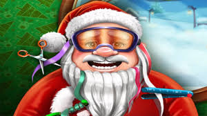 santa u0027s real haircuts awesome christmas games for kids youtube