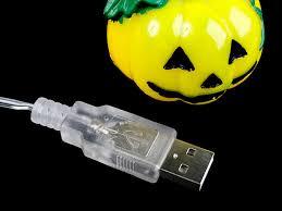 halloween pumpkin decor light 8 led lights