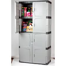 Garage Storage Cabinets Plastic Storage Cabinet With Doors Shop Garage Cabinets At Lowes