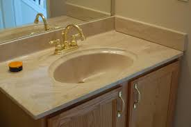 Beige Bathroom Vanity by Remodelaholic Painted Bathroom Sink And Countertop Makeover
