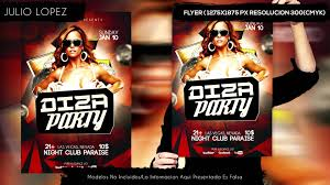 diza party flyer template psd free descargar flyer 2015 youtube