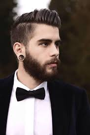 hipster haircuts men 2015 undercut style with big ear piercings