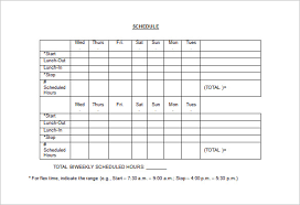 Employee Schedule Template Excel Employee Schedule Template 5 Free Word Excel Pdf Documents