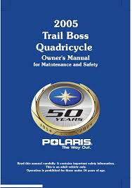 polaris offroad vehicle trail boss 330 quadricycle pdf owner u0027s