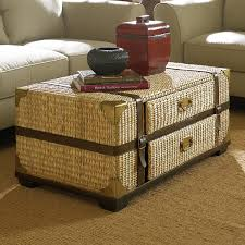 furniture charming wicker trunk coffee table designs brown round