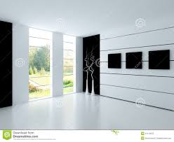 Empty White Bedroom Modern Empty White Room Architecture Interior Royalty Free Stock