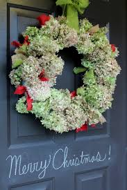 dried hydrangeas dried hydrangea christmas wreath