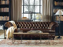 Tufted Brown Leather Sofa Chairs Design Drexel Heritage Tufted Leather Sofa Brown