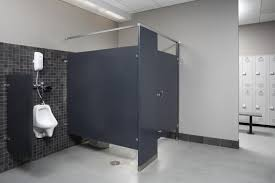 commercial bathroom designs commercial bathroom dividers colorthru phenolic toilet partitions