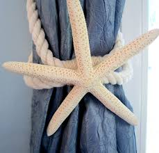 starfish tie back curtain tieback curtain tie back beach decor