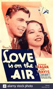 ontheair love is on the air us poster art from left ronald reagan june