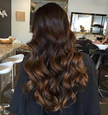 partial red highlights on dark brown hair the best balayage hair color ideas 90 flattering styles dark