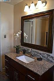 backsplash ideas for bathrooms bathroom mirror and backsplash idea for the home