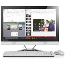 ordinateur de bureau tactile tout en un de bureau lenovo tout en un ideacentre 300 22 tactile i3 4go blanc