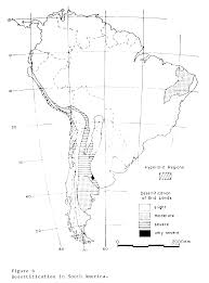Central And South America Blank Map by Desertification Of Arid Lands