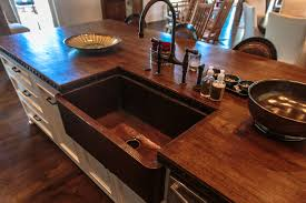 copper sinks online coupon custom reclaimed wood countertop kitchen island with copper sink
