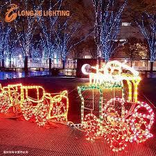 Christmas Rope Light Decorations by 220v 110v 24v 3d Train Christmas Rope Light Led Motif Light For