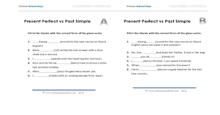present perfect vs past simple consolidation worksheet