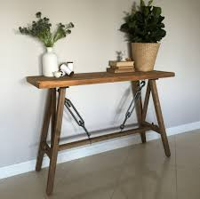 rustic timber console hall table stand shelf hamptons french