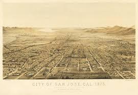 San Jose California Map Vintage Map San Jose California 1875