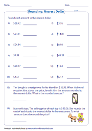 collection of solutions money rounding worksheets about reference