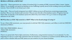 What Is Open Table Sap Abap