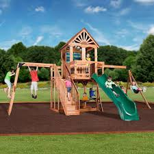Wood Backyard Playsets by Oceanview Wooden Swing Set Playsets Backyard Discovery