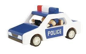 car toy blue wooden police car toy temple u0026 webster