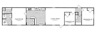 3 bedroom floor plan c 9719 hawks homes manufactured