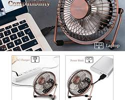Small Metal Desk Fan Powered Fans Amd Heater