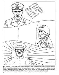 cc2 wks16 17 wwii axis leaders coloring page mussolini