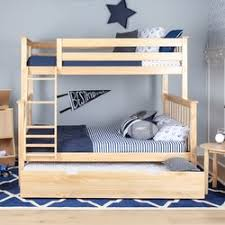 Max  Lily Solid Wood Twin Over Full Bunk Bed With Trundle Bed - Solid wood bunk bed