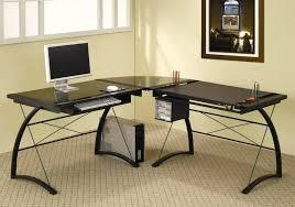 modern black computer desk black l shaped computer desk artsport me
