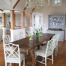 White Wood Dining Table White Bamboo Dining Chairs Design Ideas