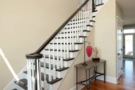 Banister On Stairs How To Stain A Banister Diy True Value Projects