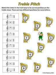music pitch worksheets tutors worksheets and more at www