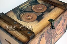 personalized wooden boxes custom large ammunition box