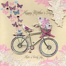 Mother Day Card by Pretty Bicycle Hand Finished Happy Mother U0027s Day Card Cards